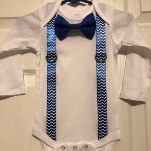 Other - Baby boy bow tie and suspender onesies